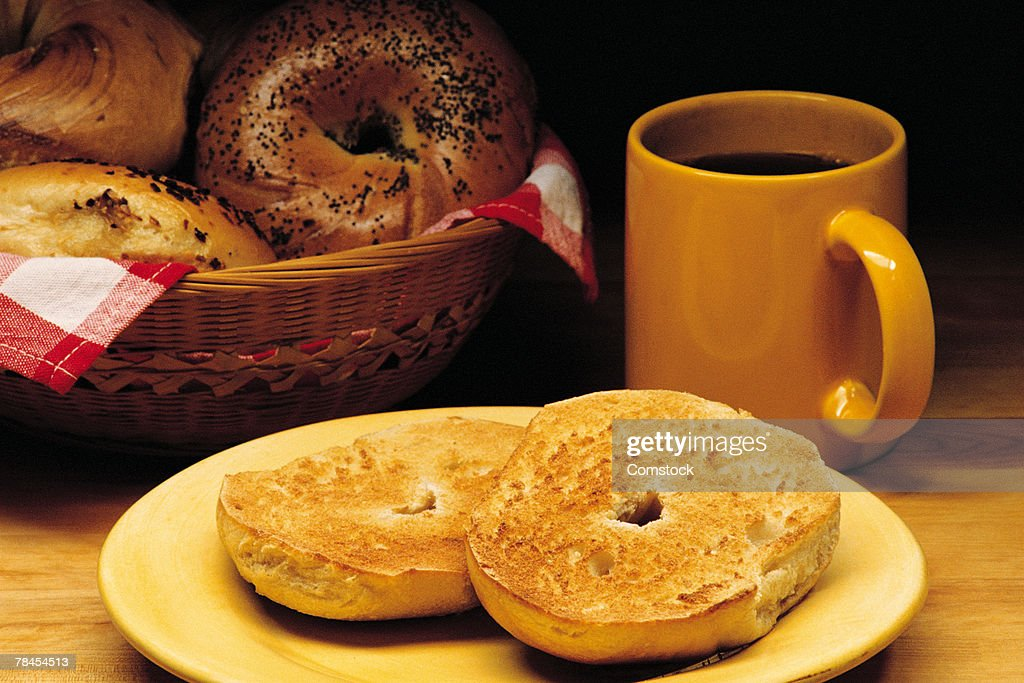 Bagels And Coffee Stock Photo | Getty Images