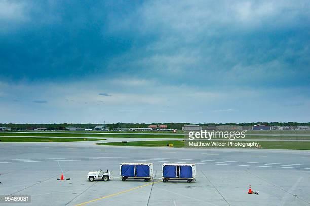 Baggage cart on tarmac