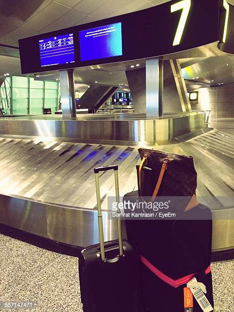 Baggage Claim Carousel In Airport