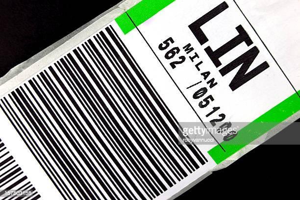 Gepäck label für einen Flug nach Mailand