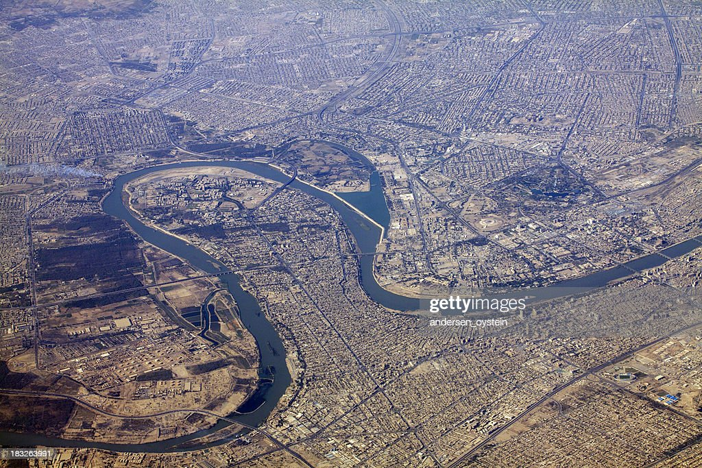 Baghdad and Tigris river