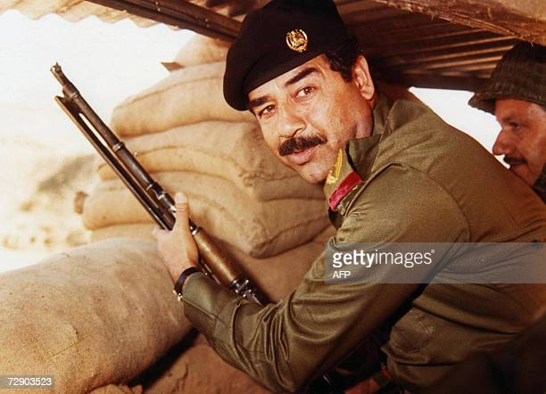 This undated file photograph shows Iraqi president Saddam Hussein Ousted Iraqi leader Saddam Hussein was executed by hanging early Saturday morning...