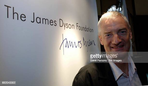 Bagless vacuum cleaner inventor James Dyson in central London where he unveiled plans for a new college aimed at encouraging young people to become...