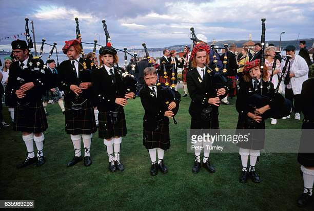Bagpipe Players at the Cowal Highland Games