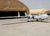 Bagram Airfield, Afghanistan, July 11, 2009 - An Unmanned Aerial Vehicle from the French UAV Squadro