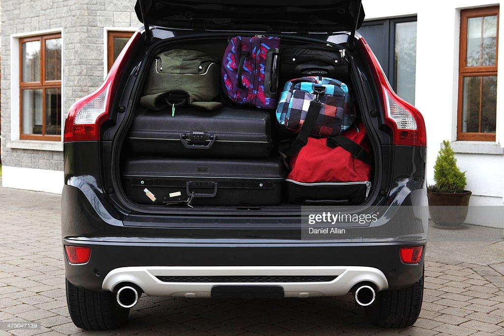 Bags in boot of car
