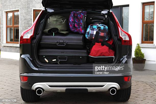 Bags in boot of car