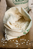 Bags of Arborio rice