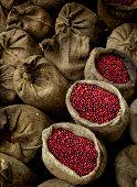 Bags Of Coffee Cherries, El Salvador