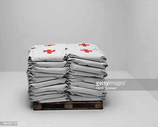 bags of emergency aid