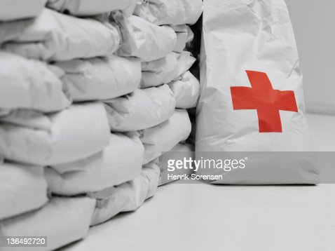 bags with emergency Aid