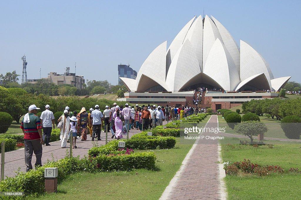 Bahá'í House of Worship - New Delhi : Stock Photo