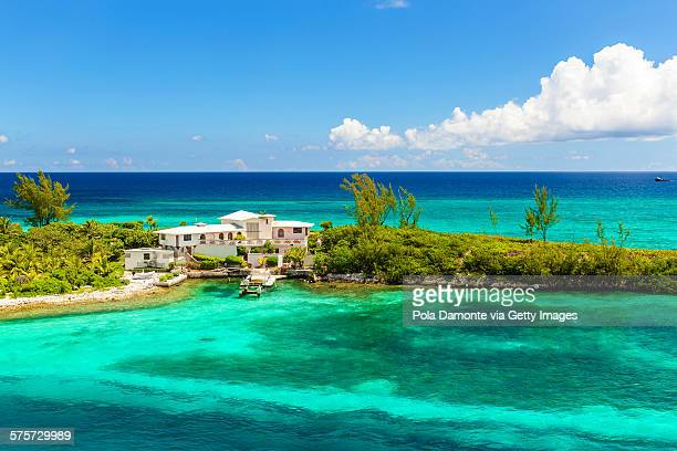 Bahamas coastline and caribbean sea.