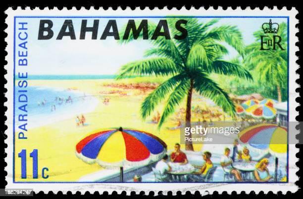 Bahamas Paradise Beach Briefmarke