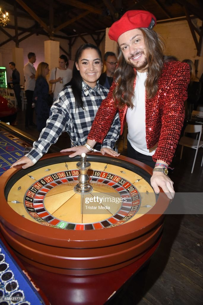 Bahar Kizil and Riccardo Simonetti attend the 'CMS Gamblers Night - Western Style' of Christoph Metzelder Foundation on October 6, 2017 in Berlin, Germany.