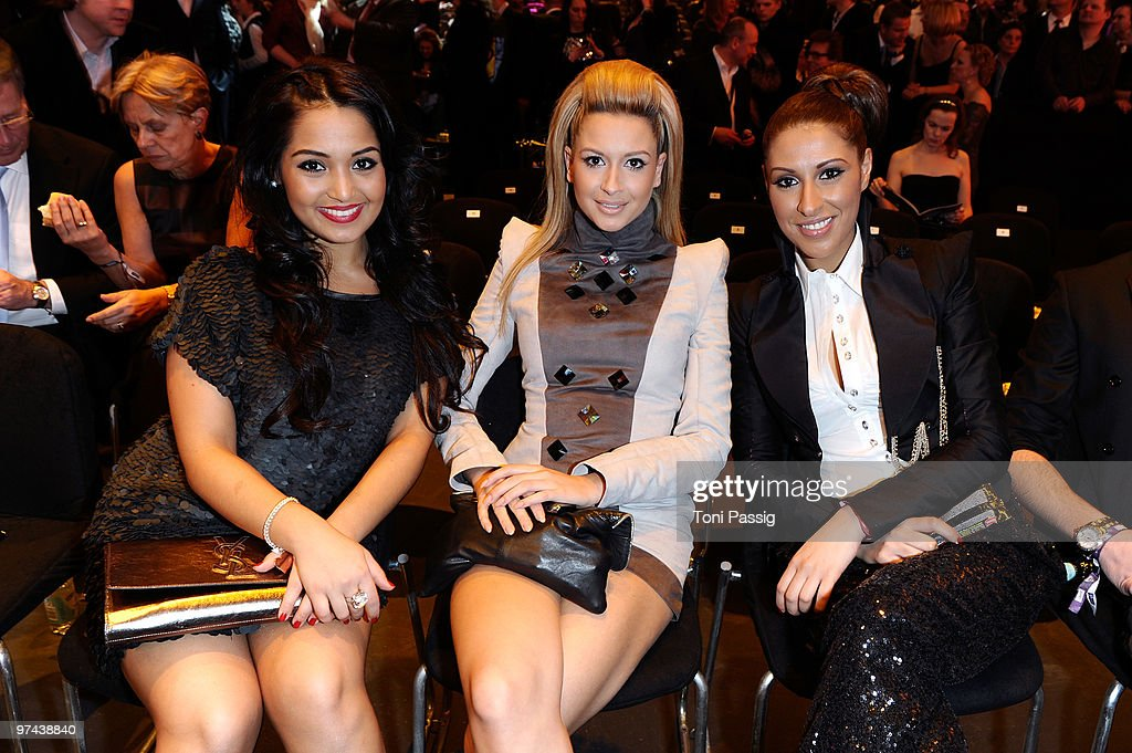 Bahar Kizil, Mandy Capristo and Senna Guemmour of the band Monrose attend the Echo Award 2010 at Palais am Funkturm on March 4, 2010 in Berlin, Germany.