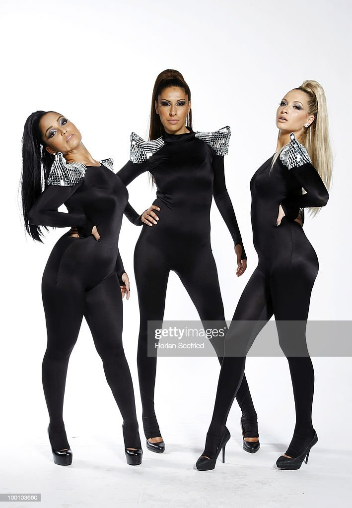 Bahar Kizil, Senna Guemmour and Mandy Capristo of Monrose pose backstage of 'The Dome 54' at the Schleyerhalle on May 20, 2010 in Stuttgart, Germany.
