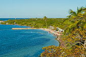 Here is a look at Bahia Honda Beach, arguably the best beach in the Florida Keys, from the now abandoned railroad bridge. This beach is part of the Bahia Honda State Park which encompasses much of the