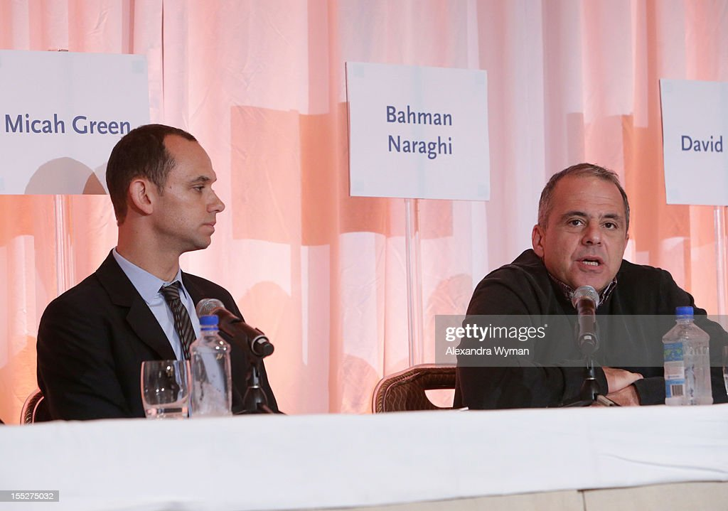 Bahman Naraghi, Independent Film Producer & former COO of GK Films, speaks during the Building Your Global Film Financing panel during American Film Market - Day 3 at the Fairmont Hotel on November 2, 2012 in Santa Monica, California.