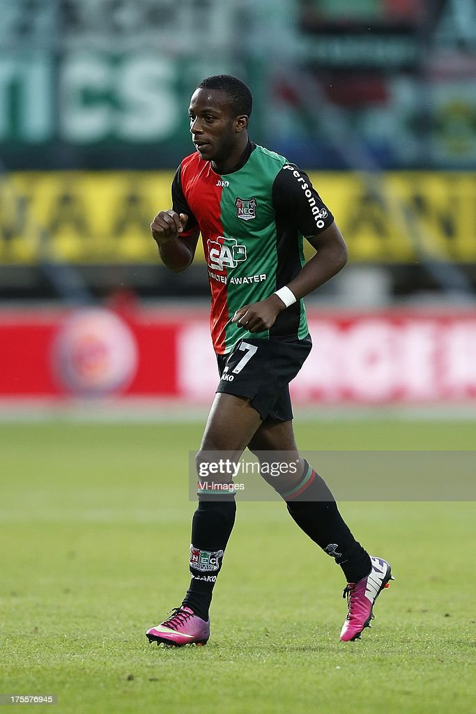 Bahnou Diarra of NEC during the Dutch Eredivisie match between NEC Nijmegen and FC Groningen on August 3 2013 at the Goffert stadium in Nijmegen The...