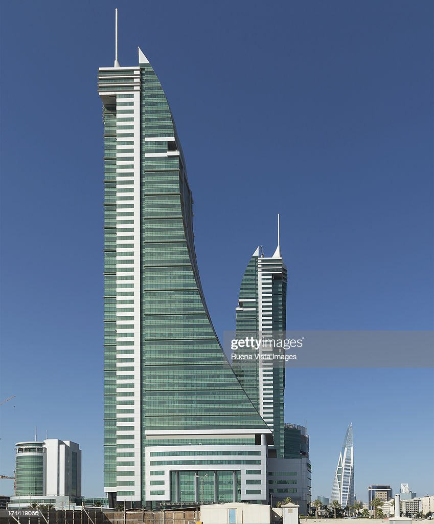 Bahrain Financial Harbour towers : Stock Photo