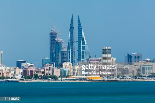 Bahrain. Modern buildings in Manama skyline. : Stock Photo
