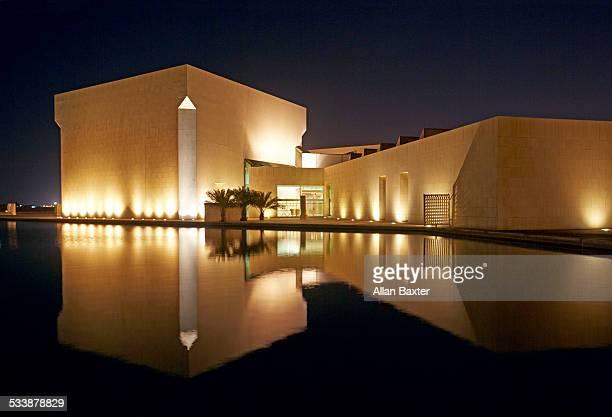 Bahrain National museum at night
