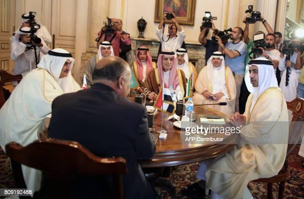 Bahraini Foreign Minister Khalid bin Ahmed alKhalifa Egyptian Foreign Minister Sameh Shoukry Saudi Foreign Minister Adel alJubeir and UAE Minister of...