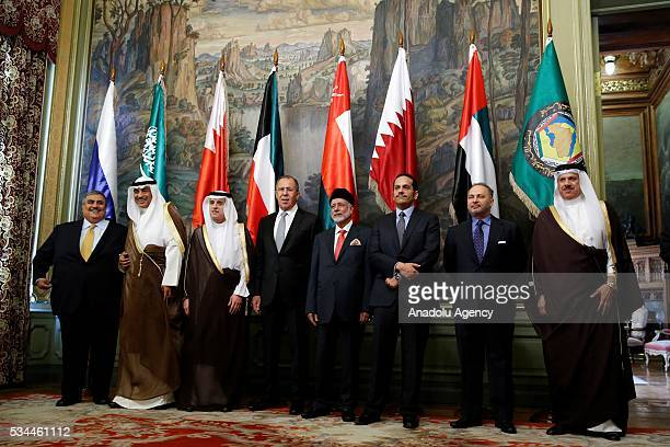 Bahraini Foreign Minister Sheikh Khalid bin Ahmed alKhalifa Kuwait's Foreign Minister Sheikh Sabah al Khalid al Sabah Saudi Arabian Foreign Minister...