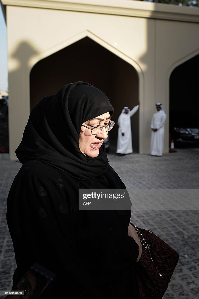 Bahraini MP Latifa Al Quood attends the National Dialogue in al-Areen Palace Hotel in Zallaq, South of Manama, on February 10, 2013