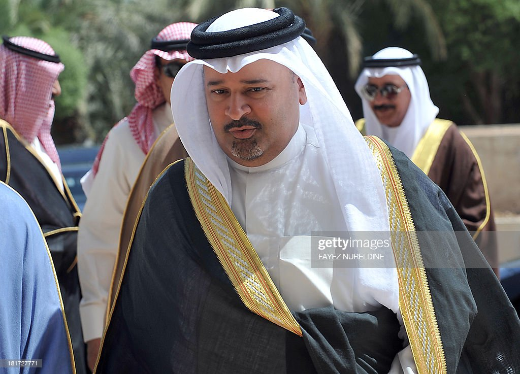 Bahraini Oil and Gas Minister Ahmed bin Mohammed al-Khalifa arrives to attend the 32nd ordinary meeting of the Oil Ministers of Gulf Cooperation Council (GCC) for the Gulf states held in Saudi capital of Riyadh, on September 24, 2013.