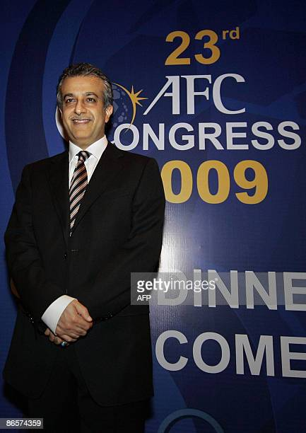 Bahrain's Sheikh Salman bin Ebrahim Al Khalifa arrives for the 23rd Asian Football Conderation Congress 2009 in Kuala Lumpur on May 7 2009 The AFC...