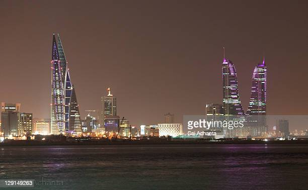 Bahrian business district at night