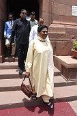 Bahujan Samaj Party Chief and Rajya Sabha MP Mayawati during the Parliament Monsoon Session on July 18 2016 in New Delhi India A total of 25 bills...