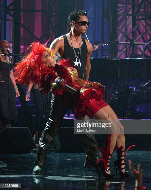 Bai Ling and Carmine Gotti Agnello during VH1's 'But Can They Sing' Taping November 22 2005 at Tribune Studios in Hollywood California United States