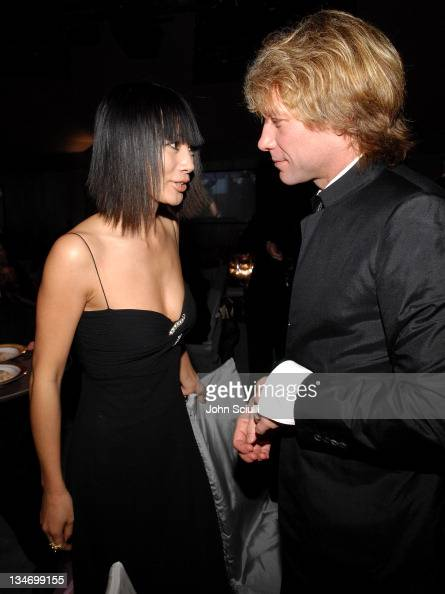 Bai Ling And Jon Bon Jovi At Elton John Aids Foundation Oscar Party Sponsored By Audi Photo By J Sciulli Wireimage For Audi Of America Inc