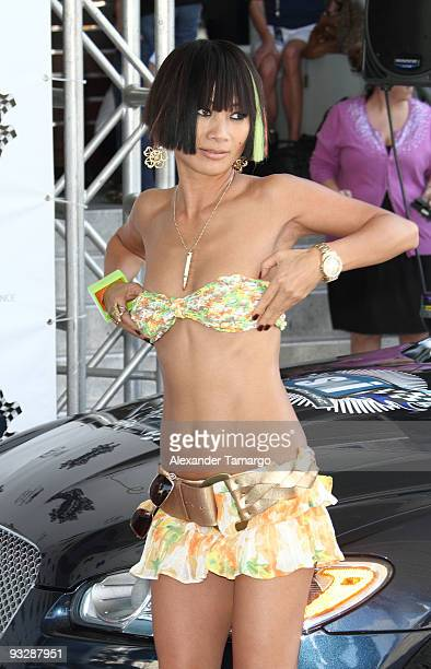 Bai Ling arrives at the Rally for Kids Start Your Engines brunch at the Eden Roc Hotel on November 21 2009 in Miami Beach Florida
