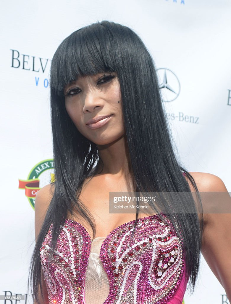 Bai Ling arrives to the 4th Annual Alex Thomas Celebrity Golf Weekend Pool Party hosted by NFL's Jacoby Jones of the Baltimore Ravens at Hollywood Roosevelt Hotel on July 14, 2013 in Hollywood, California.