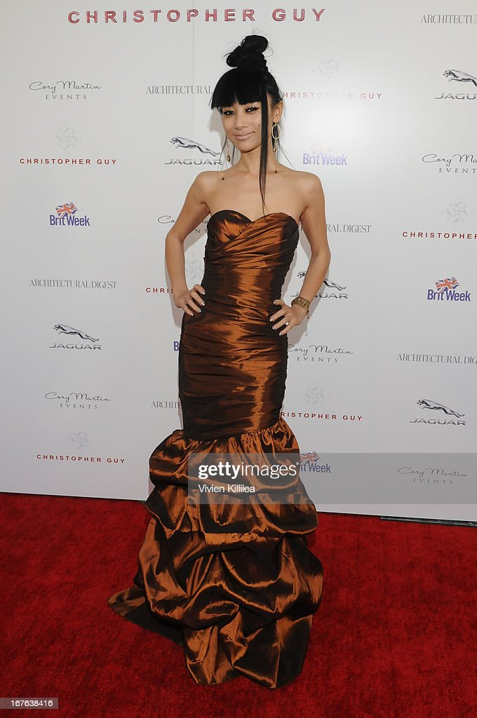 <a gi-track='captionPersonalityLinkClicked' href=/galleries/search?phrase=Bai+Ling&family=editorial&specificpeople=201459 ng-click='$event.stopPropagation()'>Bai Ling</a> attends British luxury furnishings designer Christopher Guy presents BritWeek design icon award to design director of Jaguar Ian Callum at Christopher Guy West Hollywood Showroom on April 26, 2013 in West Hollywood, California.