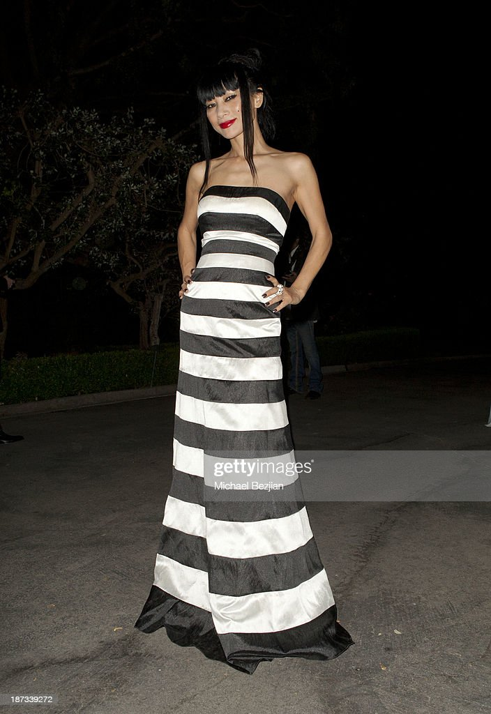 <a gi-track='captionPersonalityLinkClicked' href=/galleries/search?phrase=Bai+Ling&family=editorial&specificpeople=201459 ng-click='$event.stopPropagation()'>Bai Ling</a> attends The Consul General Of Canada Mr. David Fransen Honors Canadian Fashion Designer, Dalia MacPhee on November 7, 2013 in Los Angeles, California.