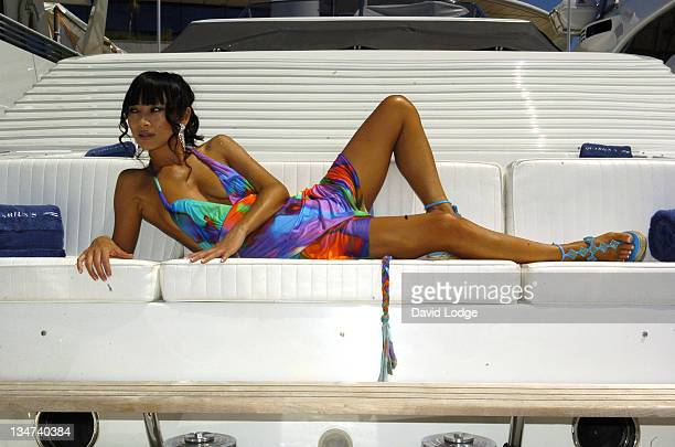 Bai Ling during 2006 Cannes Film Festival Bai Ling Portrait Session at Port in Cannes France