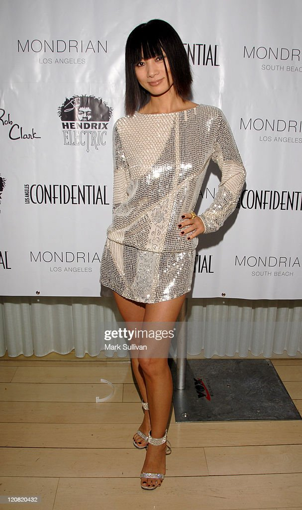 Bai Ling during Los Angeles Confidential Magazine in Association with Morgans Hotel Group Celebrates the 2007 Oscars with Forest Whitaker, Rob Clark and Hendrix Electric Vodka - Arrivals at Skybar at Mondrian Hotel in Los Angeles, California, United States.