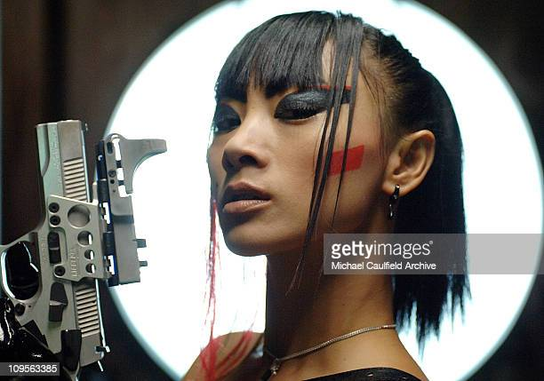 Bai Ling on the set of 'The Gene Generation' during Bai Ling on Location for 'The Gene Generation' June 22 2005 at Buena Vista Lofts in Los Angeles...