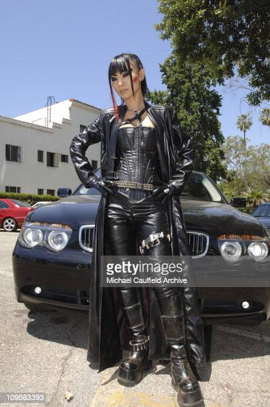 Bai Ling on the set of The Gene Generation during Bai Ling ...