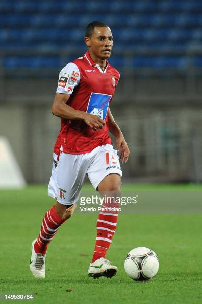 Baiano of SC Braga in action during a preSeason friendly match between Newcastle United and SC Braga on July 28 2012 in Faro Portugal