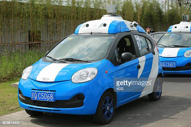 Baidu driverless cars in test run during the 3rd World Internet Conference on November 17 2016 in Jiaxing Zhejiang Province of China The 3rd World...