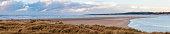 Panoramic landscape of the estuary of La Somme, Le Touquet, Nord Pas de Calais, France.