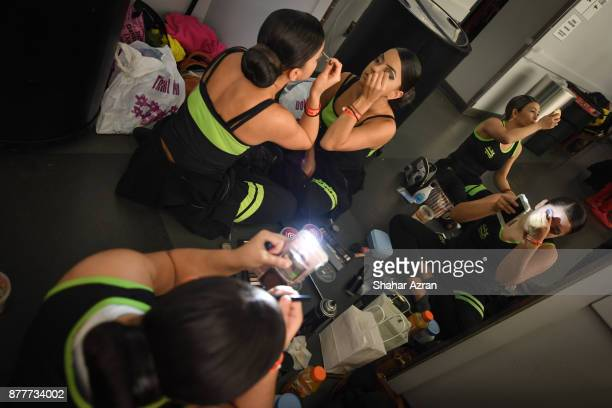 Baila Congo backstage before Amateur Night At The Apollo Super Top Dog at The Apollo Theater on November 22 2017 in New York City Photo by Shahar...