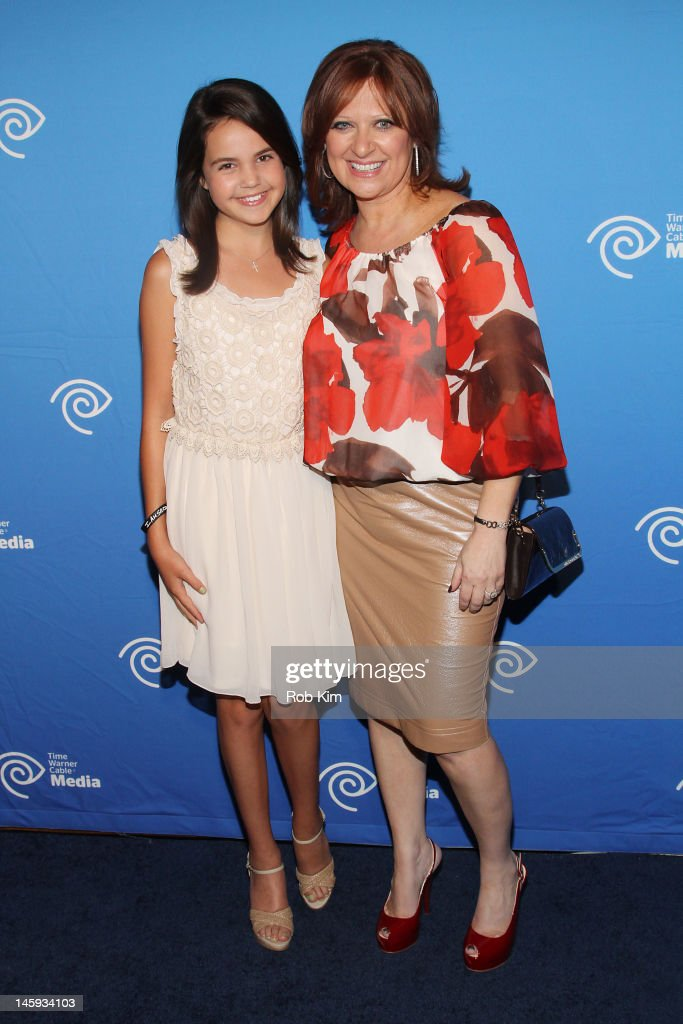 Bailee Madison (L) and Caroline Manzo attend the Time Warner Cable Media 'Cabletime' Upfront at Yotel Hotel on June 7, 2012 in New York City.