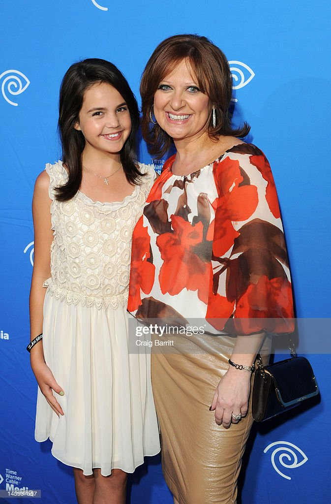 Bailee Madison and Caroline Manzo attend the Time Warner Cable Media 'Cabletime' Upfront at Yotel Hotel on June 7, 2012 in New York City.